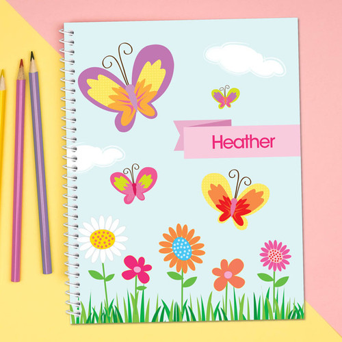 A Butterfly Field Kids Notebook