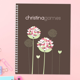Heart Blossoms Kids Notebook