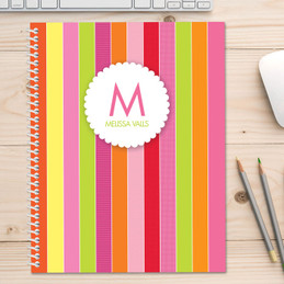 Bold and Fun Stripes Kids Notebook