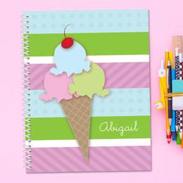 Yummy Ice Cream Kids Notebook
