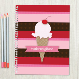 Strawberry Cone Kids Notebook