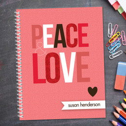 Peace & Love Kids Notebook