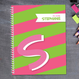 Pink Double Initial Kids Notebook