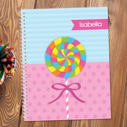 Yummy Lollipop Kids Notebook