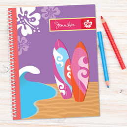 Surfing the Waves Kids Notebook