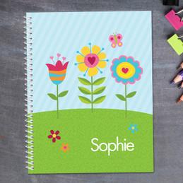 Spring Blooms Kids Notebook