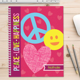 Peace & Love signs Kids Notebook