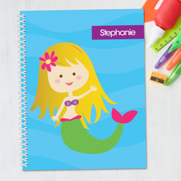 Cute Mermaid Kids Notebook