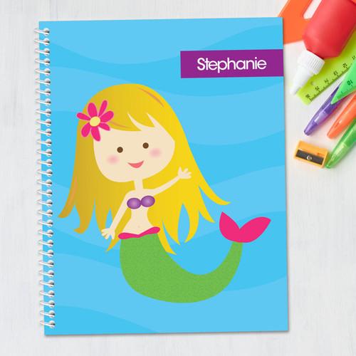 Cute Mermaid Kids Notebook