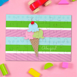 Yummy Ice Cream Personalized Puzzle By Spark & Spark
