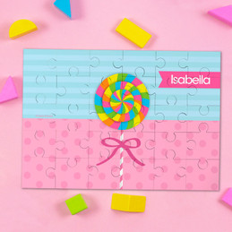 Yummy Lollipop Personalized Name Puzzle By Spark & Spark