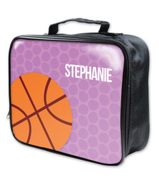 Basketball Fan Girl Circles Soft Lunch Bag