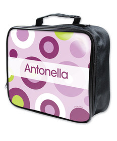 Circles and Circles Purple Soft Lunch Bag