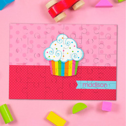 Rainbow Cupcake Personalized Puzzles By Spark & Spark