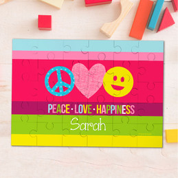 Peace & Love Signs Personalized Puzzle By Spark & Spark