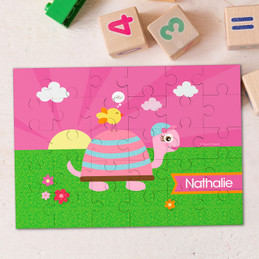 Turtle And Happy Bird Personalized Puzzles By Spark & Spark