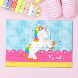 Cute Rainbow Pony Personalized Puzzles By Spark & Spark