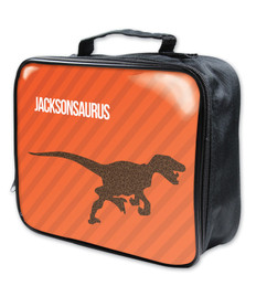 Dino and Me Orange Soft Lunch Bag