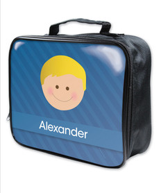 Just Like Me Boy Blue Soft Lunch Bag