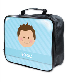 Just Like Me Boy Light Blue Soft Lunch Bag