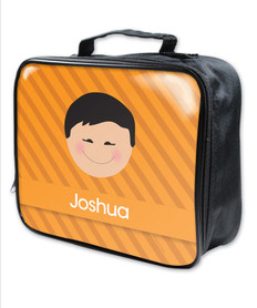 Just Like Me Boy Orange Soft Lunch Bag