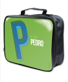 Double Initial Green Soft Lunch Bag