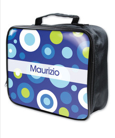 Circles and Circles Blue Soft Lunch Bag