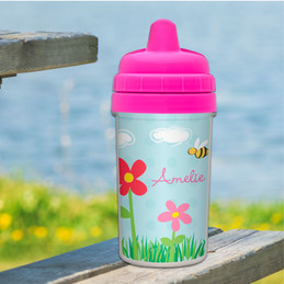 Spring Flowers Sippy Cup for Toddlers