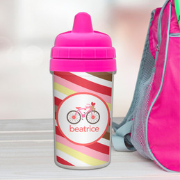 A Lovely Girl Ride Custom Sippy Cups