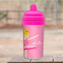 Love For Ballet Blonde toddler sippy cup