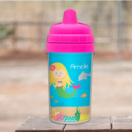 No Spill Cup with Sweet Mermaid design