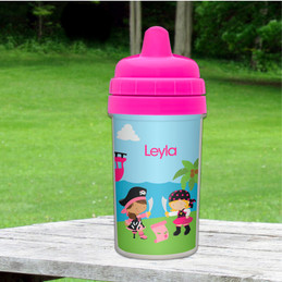 Yo ho Pirate Girl Spill Proof Sippy Cup