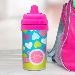 Happy hearts toddler sippy cup