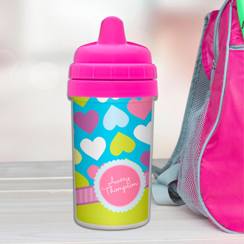 Cute Happy Hearts Sippy Cup for 6 month old