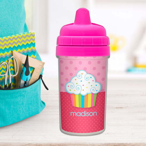Rainbow Cupcake Sippy Cup for Milk