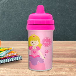 Cute blonde princess personalized sippy cup
