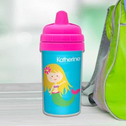 Cute blonde mermaid Customized sippy cup