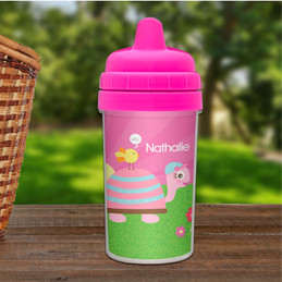 Turtle and happy bird sippy cup for kids