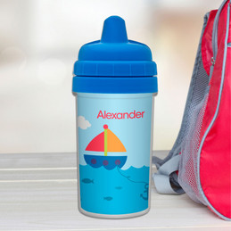 Sailing Personalized Toddler Sippy Cups