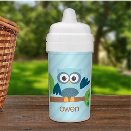 Fun Boys Sippy Cup with owl design