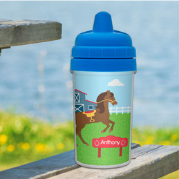 Cute Race Horse Sippy Cup