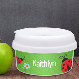 Curious Lady Bug Custom Snack Bowl