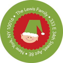 Santa And Elfs Christmas Address Labels