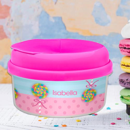 Yummy Lollipop Personalized Snack Bowl
