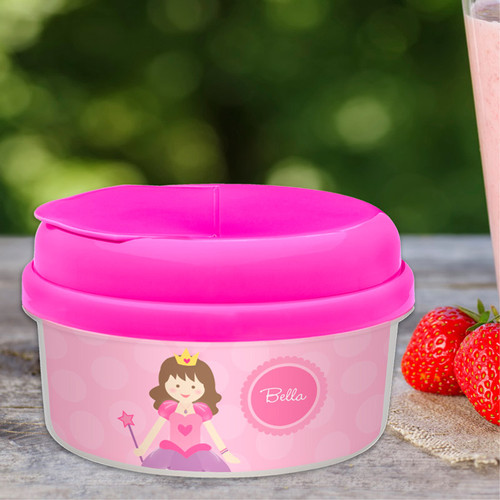 Cute Brunette Princess Snack Bowls Gifts