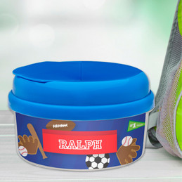 My Love For Sports Personalized Snack Bowls