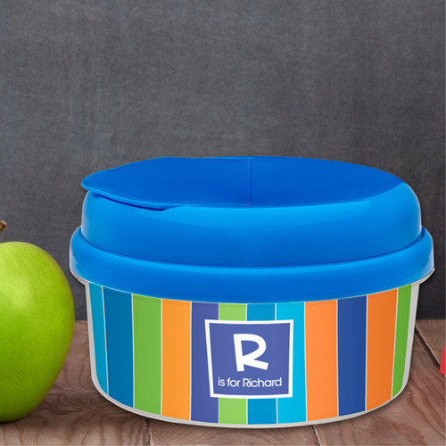 Bold Stripes Personalized Snack Bowls