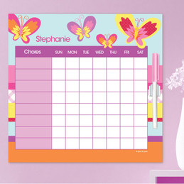 Smiley Butterfly Kids Chore Chart