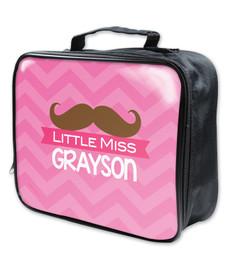 Little Miss Mustach Soft Lunch Bag