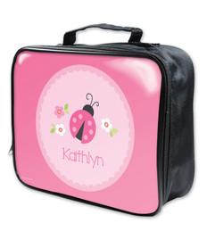 Sweet Pink Lady Bug Soft Lunchbox